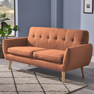 Josephine Mid Century Modern Petite Fabric Sofa by Christopher Knight Home