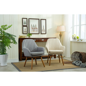 Carson Carrington Fellingsbro Pleated Fabric Accent Chair