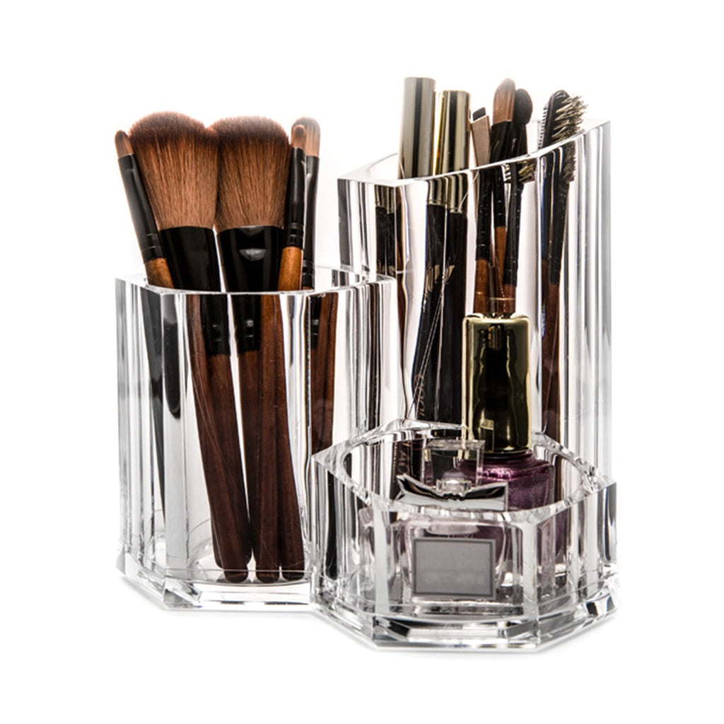 Clear Makeup Brush Holder & Beauty Storage