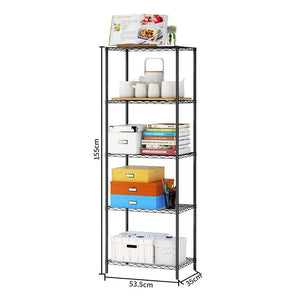 Wire Shelving 5-Tier Metal Wire Shelf Storage Rack Durable Organizer Unit Perfect for Kitchen Garage Pantry Organization