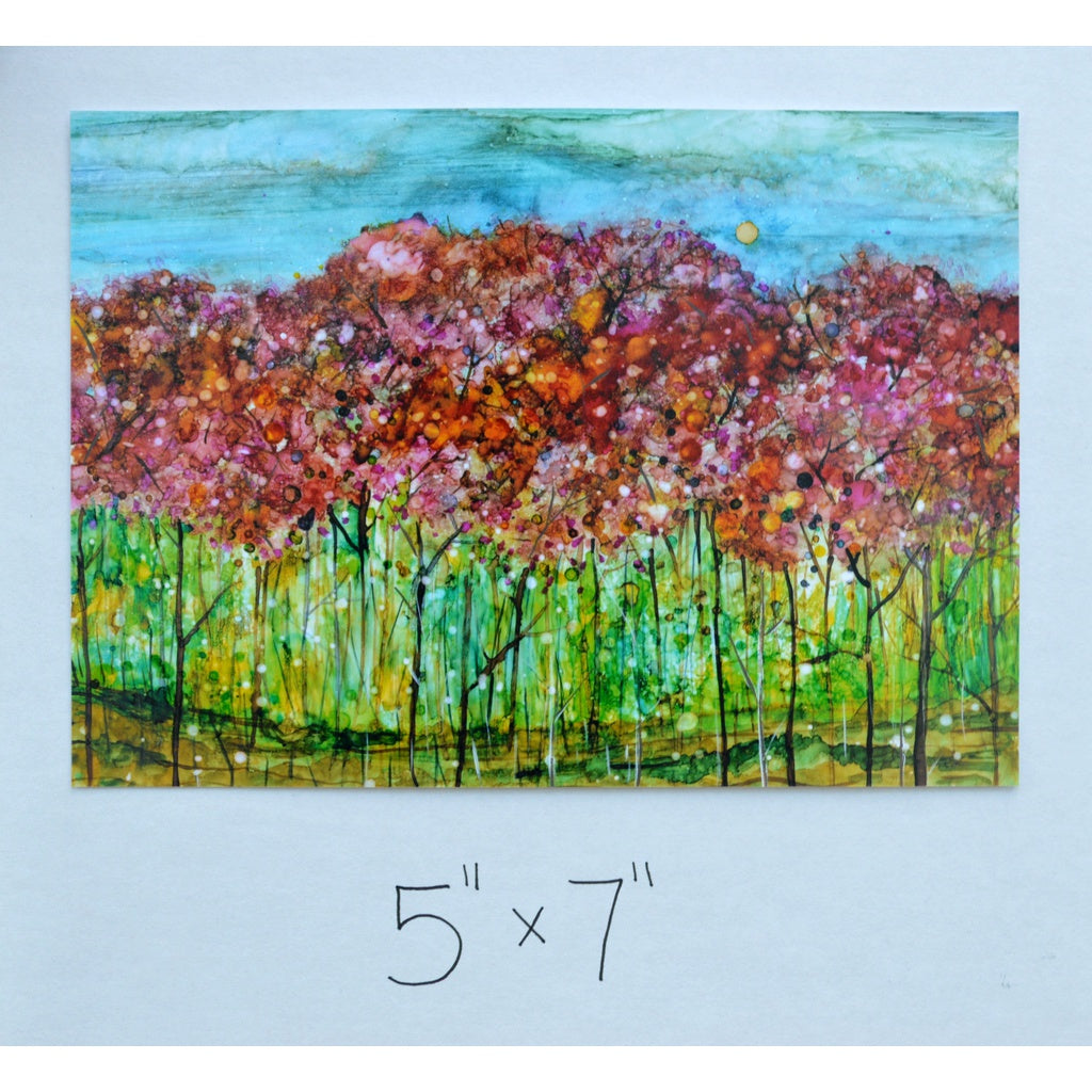 """Spring Forest"" Landscape Mixed Media Painting"