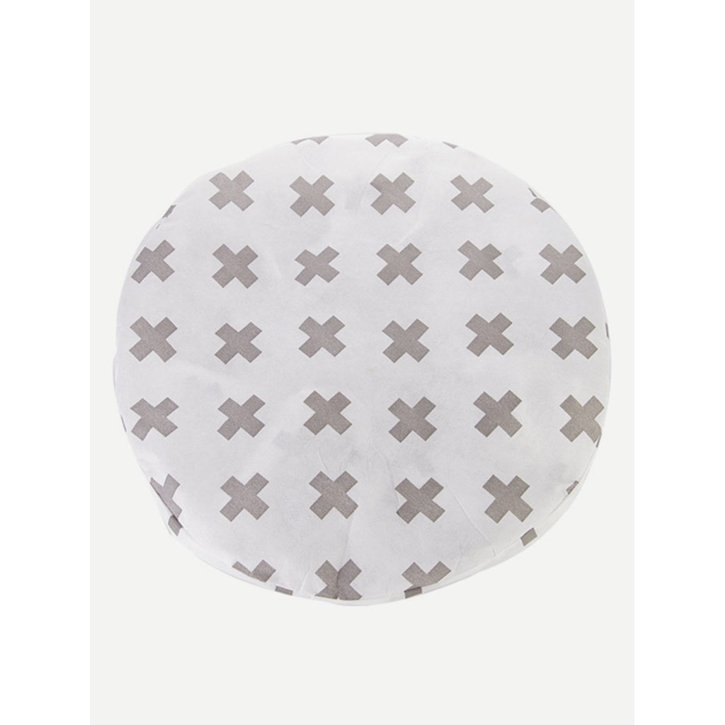 Cross Print Round Electric Fan Cover