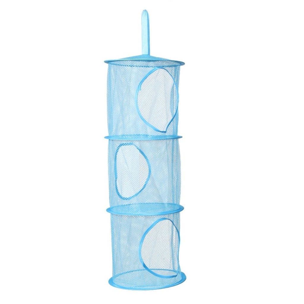 3 Shelf Hanging Storage Net Kids Toy Organizer Bag Bedroom Wall Door Closet