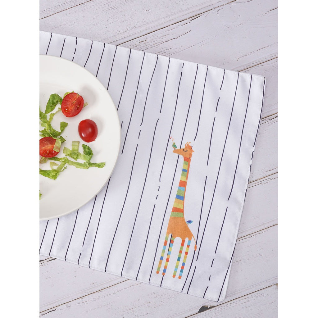 Giraffe Print Striped Table Placemat