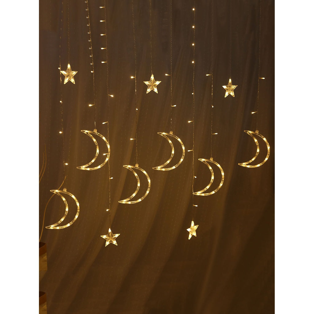 Plug In 12pcs Moon Shaped LED Light