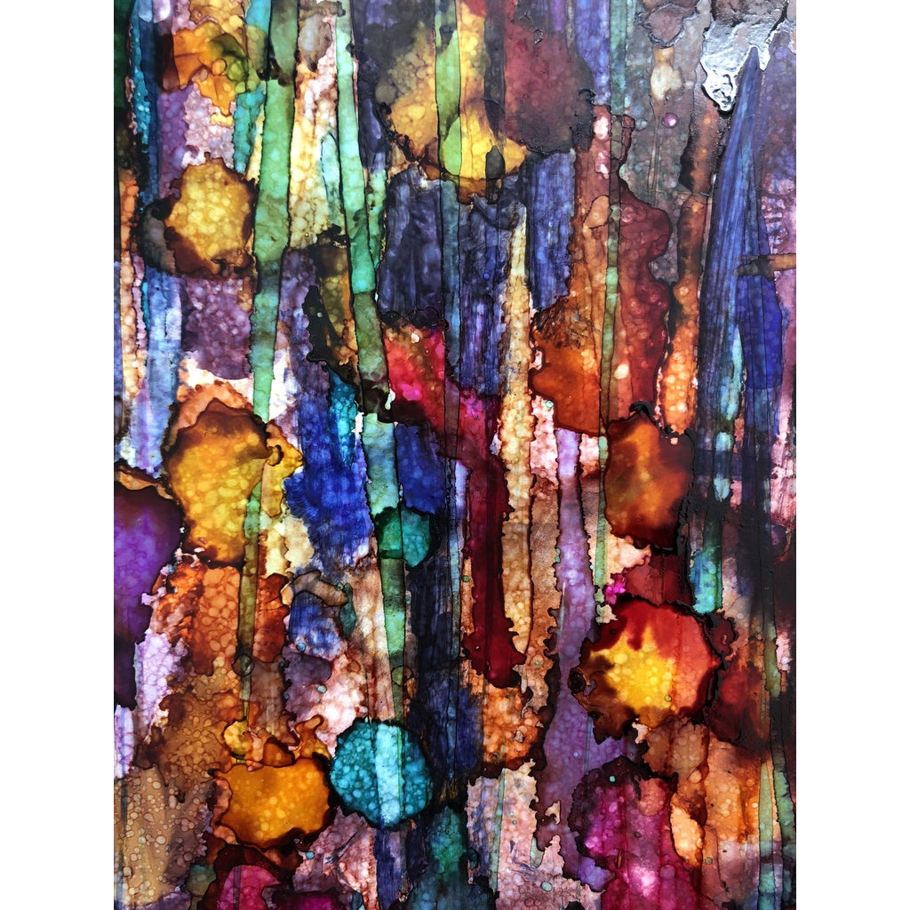 """Feelings of Spring"" Alcohol Ink Painting"