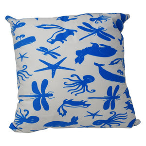 "Multi Creature Pillow 16"" x 16"" - Faux Suede"