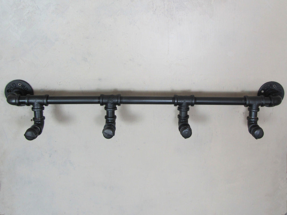 Industrial Rustic Iron Pipe Wall Mounted Towel Hook