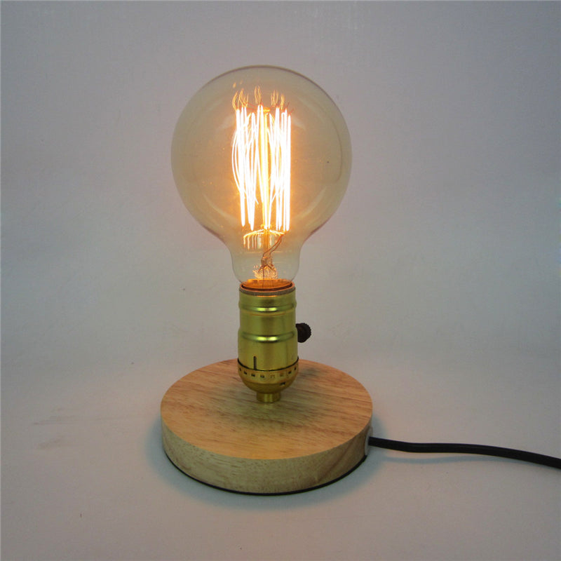 Dimmable Edison Wooden Table Light