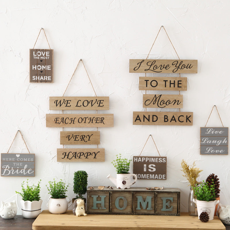 Retro Wooden Home Furnishing Sign