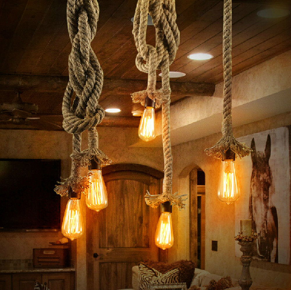 Vintage Rope Pendant Lights
