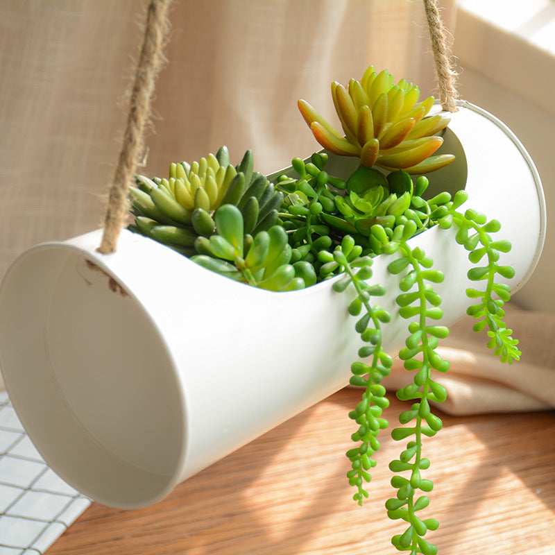 Hanging Planter Iron and Rope