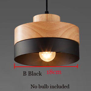Wood and Iron bar Cafe Restaurant Pendant Lamp