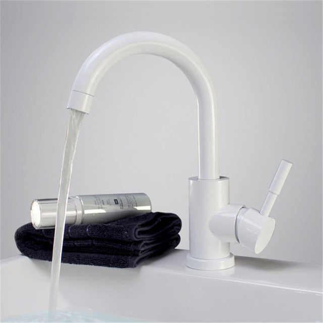 Stainless Steel Polished Bathroom Basin Mixer