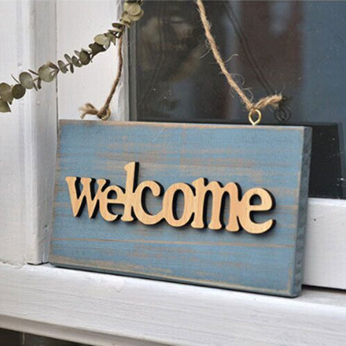 Vintage Wooden Welcome Sign