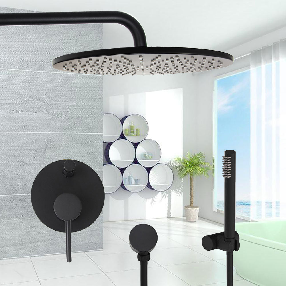 Wall Mounted Rain Shower Double Handle Water Mixer