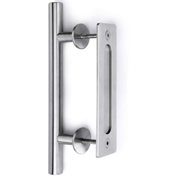 modern stainless steel and black interior sliding Door Barn door handle