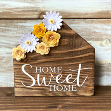 Wooden Houses with Paper Flowers DIY Project Kit