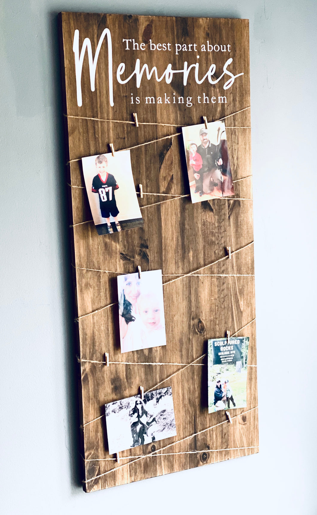 Memories Photo Sign DIY Project Kit