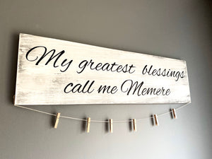 Greatest Blessings Photo Sign