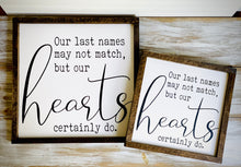 Names & Heart- Family quote sign