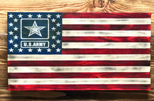 Rustic Military flag- U.S. Army