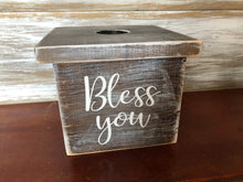 Rustic tissue box cover
