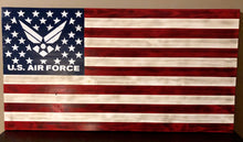 Rustic Military flag- Air Force