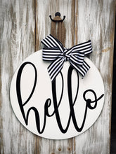 Hello Doorway sign