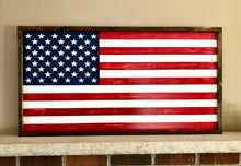 Framed American flag