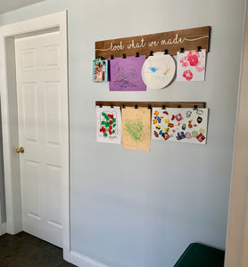 Children's Art board with clips