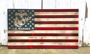 Rustic Military flag- U.S. Marines