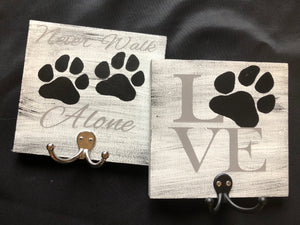 Dog Leash Hook sign