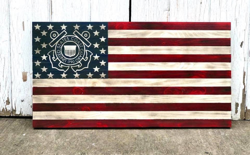 Rustic Military flag- U.S. Coast Guard