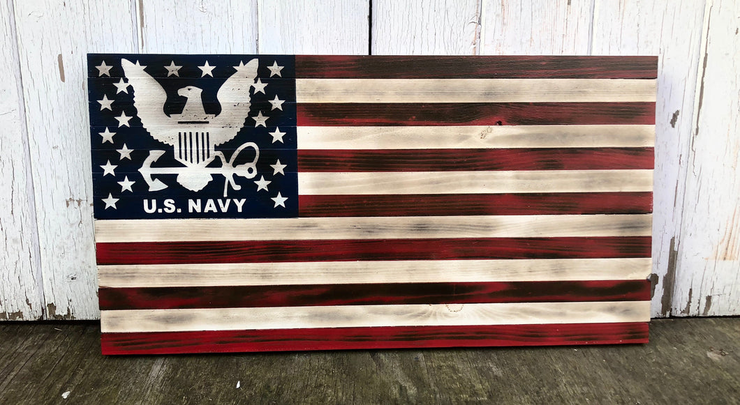 Rustic Military flag-Navy