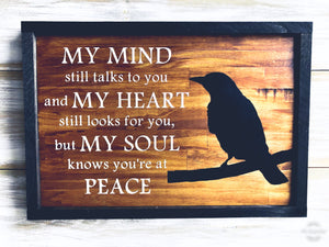 """At Peace"" Quote sign"