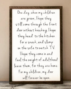 For My Children