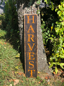 Distressed Harvest sign