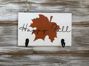 Happy Fall key holder