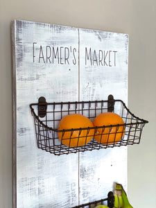 Farmer's Market Basket sign
