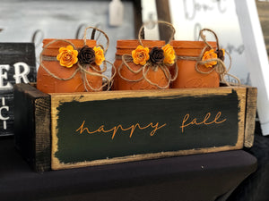 Happy Fall Mason jar tray