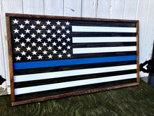 Framed Blue line Police flag