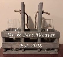 Personalized wine caddy