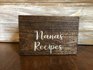 Recipes box
