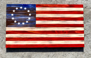 Rustic 13 Star Flag