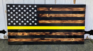 Rustic Yellow line Tow flag