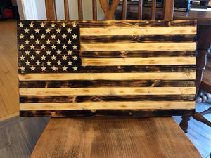 Rustic all-Torched Flag