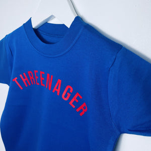 Threenager T Shirt Little Kids