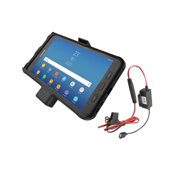 RAM® No Lock Powered Samsung Tab Active2 Vehicle Cradle with Hardwire Charger (RAM-HOL-SAM7P-HARU)