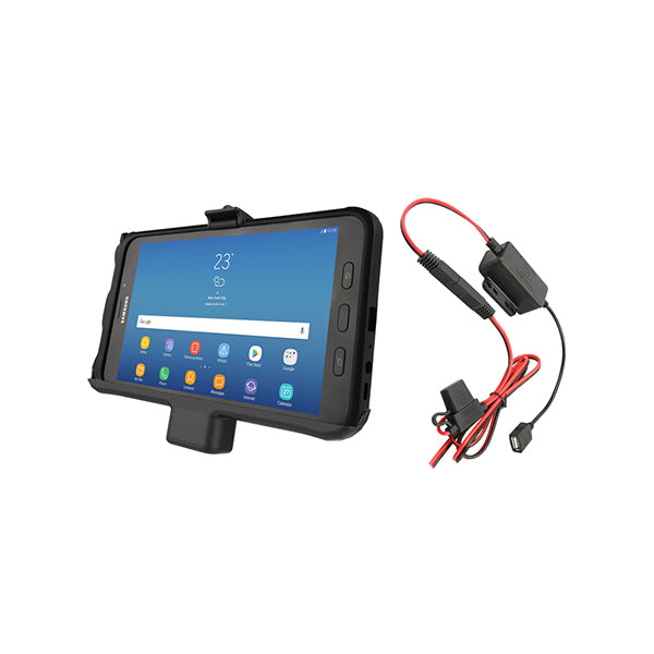 RAM® EZ-Roll'r™ Powered Cradle for Samsung Tab Active2 with Charger (RAM-HOL-SAM7PA-HARU)-Image-1